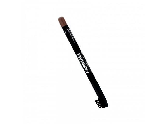 Eyebrow Pencil With Brush - 01 Brown Farmasi