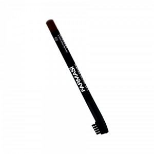 Eyebrow Pencil With Brush - 03 Dark Brown Farmasi