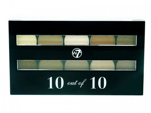 Perfect 10 Eyeshadow Palette - Browns W7