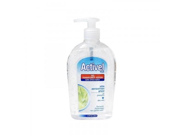 Activel Plus Gel 70% Αλκοόλη Αντισηπτικά Χεριών 500ml Farcom